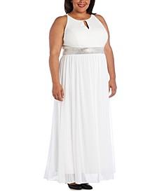 Plus Size Keyhole Gown