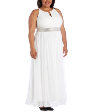 70s Dresses – Disco Dress, Hippie Dress, Wrap Dress R  M Richards Plus Size Keyhole Gown $109.00 AT vintagedancer.com