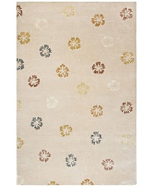 Garland MSR3267A Rose and Beige 6' x 6' Round Area Rug