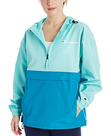 Women's Packable Colorblocked Hooded Jacket