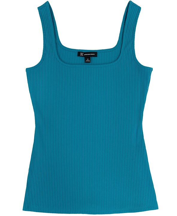 INC International Concepts INC Plus Size Square-Neck Ribbed Tank, Created for Macy's