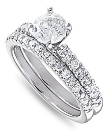 IGI Certified Diamond (1-1/2 ct. t.w.) Bridal Set in 14K White, Yellow or Rose Gold