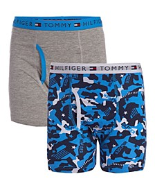 Big Boys Camo Print Boxer Brief, Pack of 2