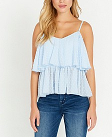 Dew Drop, Lace Overlay Tank