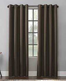 "Mavis Herringbone 100% Blackout Grommet Curtain Panel, 84"" x 52"""