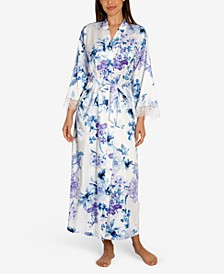 Noralee Floral-Print Wrap Robe