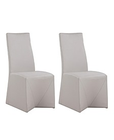 Janna Fully Upholstered Rolling Side Chair, Set of 2