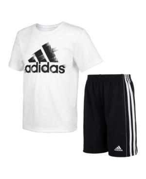 Adidas Originals ADIDAS LITTLE BOYS TEE AND SHORT SET