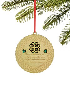 Irish Round Laser Cut Ornament, Created for Macy's