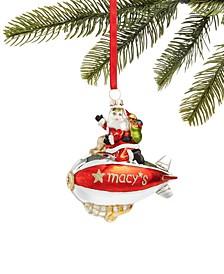 Macy's Santa Riding Blimp Ornament, Created for Macy's
