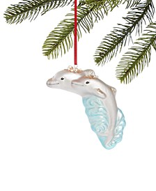 Seaside Molded Glass Dolphin Ornament, Created for Macy's