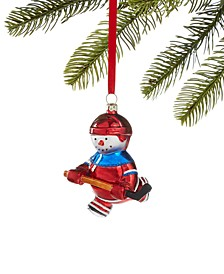 Sports Hockey Player Snowman Ornament, Created for Macy's