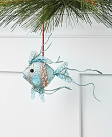 Seaside Glittered and Sequined Fish Ornament, Created for Macy's