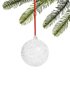 Peppermint Twist Snow Ball Ornament, Created for Macy's
