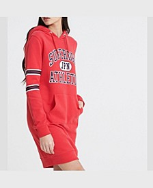 Women's Hooded Varsity Sweat Dress