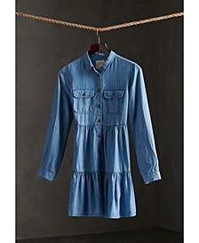 Women's Tiered Shirt Dress