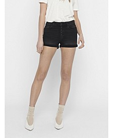 Hush Button Front Cut Off Shorts