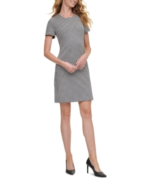 Calvin Klein CHECKERED SHIFT DRESS