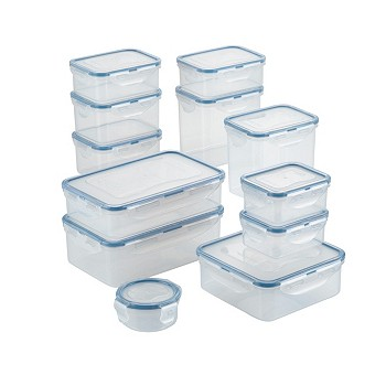Lock n Lock Easy Essentials Basics 24-Piece Food Storage Container Set