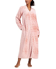 Petite Long Chevron Zip Robe, Created for Macy's