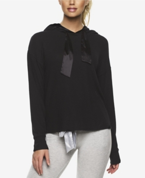 Cozy Hacci Lounge Hoodie with Satin Details