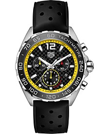 Men's Swiss Chronograph Formula 1 Black Rubber Strap Watch 43mm