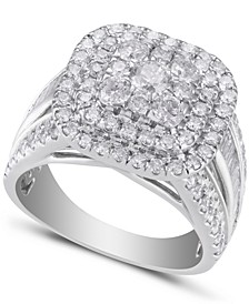 Diamond Composite Engagement Ring (3 ct. t.w.) in 14k White Gold