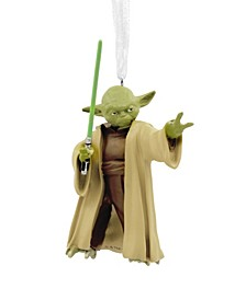 Star Wars Yoda With Lightsaber Christmas Ornament