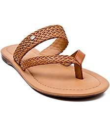 Lola Toe-Ring Slide Sandals