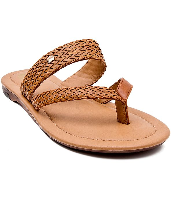 JANE AND THE SHOE Lola Toe-Ring Slide Sandals
