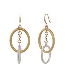 The Sak Two Tone Oval Drop Earrings