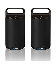 Dual Indoor/Outdoor Bluetooth Speakers, Set of 2