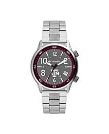 Men's Outbacker Texas A M Stainless Steel Bracelet Watch 45mm