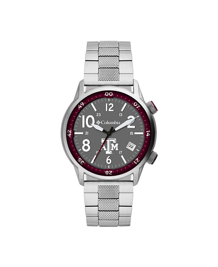 Columbia - Men's Outbacker Texas A M Stainless Steel Bracelet Watch 45mm