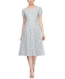 Midi Lace A-Line Dress
