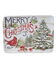 Evergreen Christmas Rectangular Platter