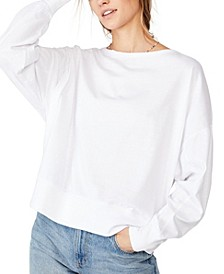 Oversize Drop Shoulder Long Sleeve Top