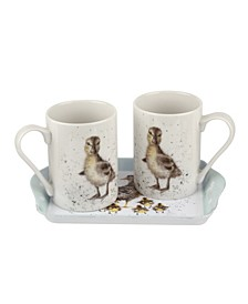 3 Piece Mug and Tray Set - Lovely Mumy