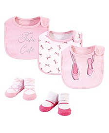 Baby Girls Baby Bib and Sock Set