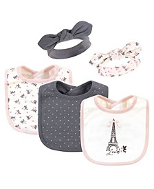 Girls Bib and Headband Set