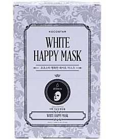 White Happy Mask, Pack of 10