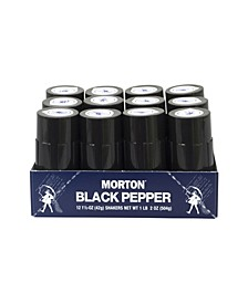 Restaurant-Style Black Pepper Shakers, 12 Count