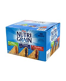 Nutri Grain Soft Baked Breakfast Bars Variety, 1.3 oz, 48 Count