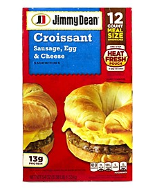 Sausage, Egg and Cheese Croissant Breakfast Sandwich, 12 Count
