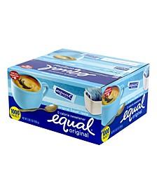 Zero Calorie Original Sweetener, Box of 1,000 Sweetener Packets