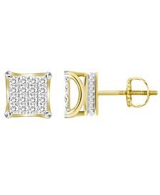 Men's Diamond (1/2 ct. t.w.) Earring Set in 10k Yellow Gold