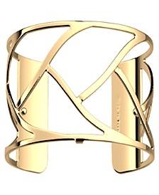 Large Chamber Openwork Wide Adjustable Cuff Tresse Bracelet, 40mm, 1.6in