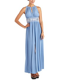 R&M Richards Petite Beaded Gown