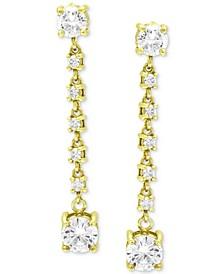 Cubic Zirconia Linear Drop Earrings, Created for Macy's