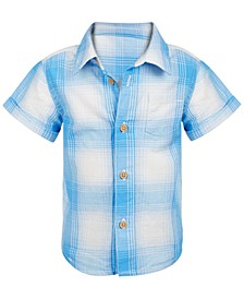 Baby Boys Ombré Plaid Shirt, Created for Macy's